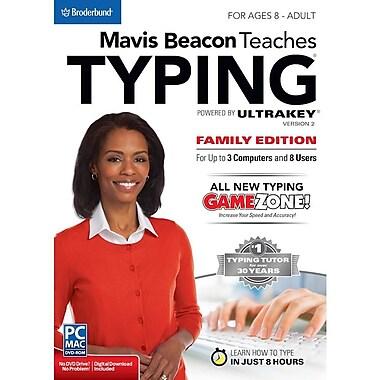 Encore – Logiciel de dactylo Mavis Beacon Teaches Typing alimenté par UltraKey v2, éd. familiale pour MAC, anglais