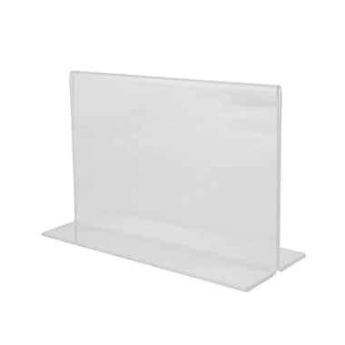 Wamaco Acrylic Horizontal Sign Holder, Bottom-Load, 5/Pack (37-1161)