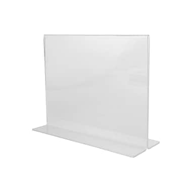 Wamaco Acrylic Horizontal Sign Holder, Bottom Load (37-1162)