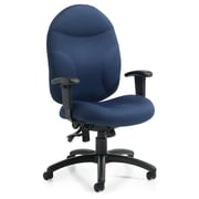 Staples® Deluxe Memory Foam Multi-Tilt Chair, Navy (ST13204 WA53)