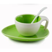 Tannex Set of 6 Espresso Cups and Saucers with Spoon, 2oz
