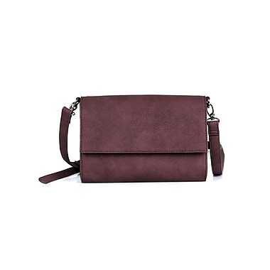 Karla Hanson® Madison Women's Crossbody Bag, Plum (72401PLUM)