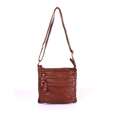 Karla Hanson® Charlotte Women's Crossbody Wash Bag, Brown (50704BROWN)