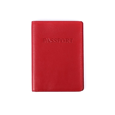 Karla Hanson® RFID Protection Ingrid Deluxe Passport Holder, Red (28612RED)