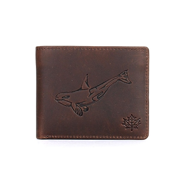 RFID Protection Canada Wild™ Men's Bifold Wallet, Orca Brown (71406ORCABROWN)