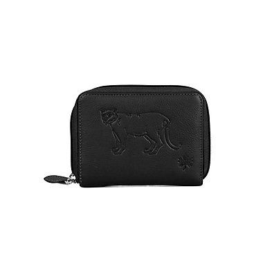 RFID Protection Canada Wild™ Women's Bifold Wallet, Cougar Black (71412BLACK)