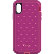 OtterBox Defender Carrying Case (Holster) for iPhone X, Coral Dot (77-57222)