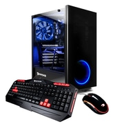 iBUYPOWER - PC de table de jeu CA8460I, Intel Core i7-8700 3,2 GHz, DD 2 To + SSD 120 Go, DDR4 16 Go, Win10 Famille