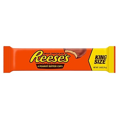 REESE'S King Size Peanut Butter Cups, 2.8 oz., 24 Count (HEC48000)
