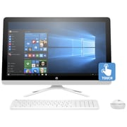 HP – PC tout-en-un 24-G239 Z5P22AA#ABL, 23,8 po, Intel Pentium J3710 1,6 GHz, DD 1 To, DDR3L 8 Go, Windows 10 Famille (64 bits)