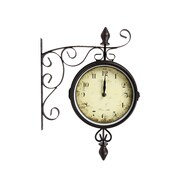 CTG Double-Sided Bistro Clock, Brown (53595DF)