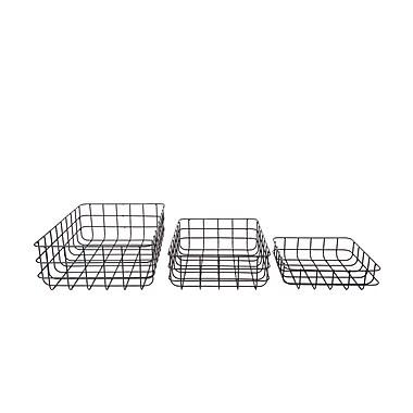 CTG Wire Geo Storage Baskets, Black, 3/Pack (66164DF)