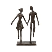 CTG Bronze-Look Couple Holding Hands Sculpture, Brown (66221DF)