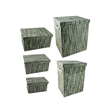 CTG Rectangular Storage Boxes, Green (66398DF)