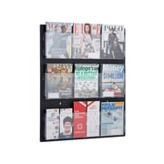 "AdirOffice Hanging Magazine Rack with Adjustable Pockets 29"" x 35"", Black (640-2935-BLK)"