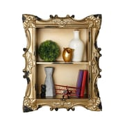 AdirHome Classic Shelf 2 Sections with Flared Design, Gold (510-04)