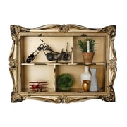 AdirHome Ornamental Wall Shelf with 4 Sections, Gold (510-07)