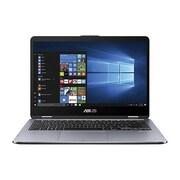 "ASUS® VivoBook Flip 14 TP410 TP410UA-DB71T 14"" Notebook, LCD, Intel Core i7, 1TB, 8GB RAM, Windows 10, Star Gray"