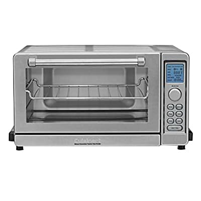 Cuisinart 0.6 cu. ft. Refurbished Deluxe Convection Toaster Oven Broiler, Stainless Steel (TOB-135FR) IM19J4214