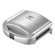 "Cuisinart® WM-SW2N Nonstick Electric Refurbished Dual Sandwich Grill, 3 3/4"" x 9"" x 9"", Silver"
