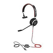 Jabra® GSA6399-823-109 Evolve 40 Wired On Ear Stereo Headset with Noise Cancellation Microphone, Black