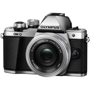 Olympus® OM-D E-M10 Mark II 17.2 MP Actual/16.1 MP Effective Mirrorless Digital Camera, 3x, 14 mm - 42 mm, Silver