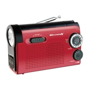WeatherX WR182R AM/FM Weather Band LED Flashlight Radio, Red/Black