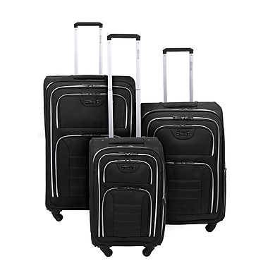 Kenneth Cole Reaction Take Five 2.0 Expandable 3-Piece Luggage Set, Black