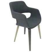 Cathay Importers – Chaise d'appoint, revêtement de lin, pattes au placage chêne gris, noir (EC-01-1979)