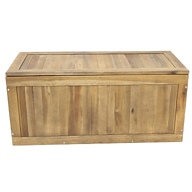 Cathay Importers Acacia Wood Rectangle Chest, Natural (EC-20-0028)