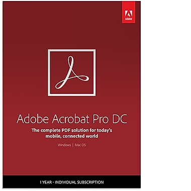 Adobe Acrobat Professional DC 1 Year Subscription [Download]