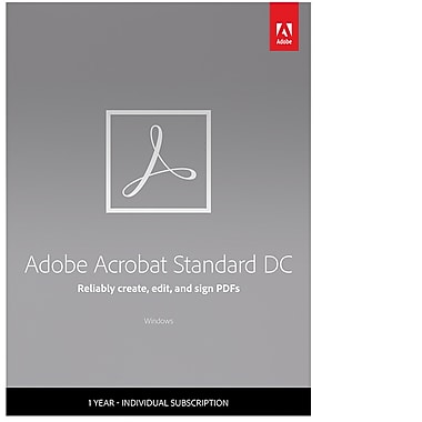 Adobe Acrobat Standard DC 1 Year Subscription [Download]