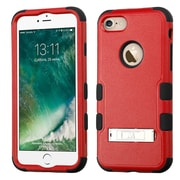 Insten Tuff 3-Piece Style Shockproof SoFT TPU Hard Hybrid Cover Case For iPhone 7 - Red/Black