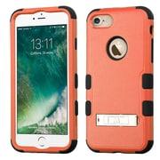 Insten Tuff 3-Piece Style Shockproof SoFT TPU Hard Hybrid Cover Case For iPhone 7 - Orange/Black