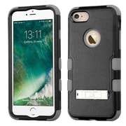Insten Hard Dual Layer Hybrid Rubberized Silicone Cover Case with stand For iPhone 7 - Black/Gray