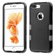 Insten Tuff 3-Piece Style Shockproof SoFT TPU Hard Hybrid Cover Case For iPhone 7 Plus - Black/Gray