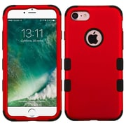 Insten Tuff Hard Dual Layer Rubber Coated Silicone Case For Apple iPhone 7 - Red/Black