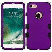 Insten Tuff Hard Hybrid Rubberized Silicone Case For Apple iPhone 7 - Purple/Black
