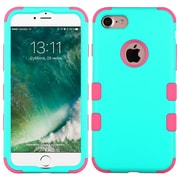 Insten Tuff Hard Hybrid Rubber Silicone Cover Case For Apple iPhone 7 - Teal/Pink