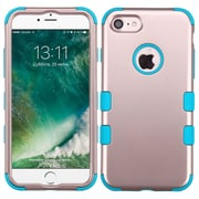 Insten Tuff Hard Hybrid Rubberized Silicone Case For Apple iPhone 7 - Rose Gold/Blue