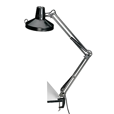 Alvin® Black Swing-Arm Combination Lamp With Cfl Bulb