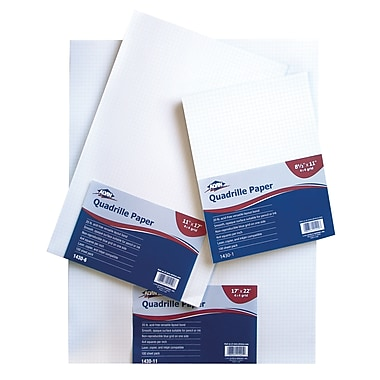 Alvin® Quadrille Paper 10X10 Grid 100-Sheet Pack 8.5