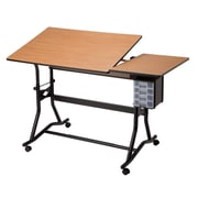 Alvin® Split-Top Drafting, Drawing, And Art Table Black Base Cherry Woodgrain Top (CM60-3-WBR)
