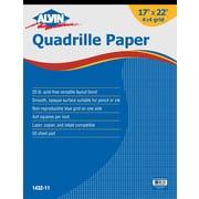 Alvin® Quadrille Paper 4X4 Grid 50-Sheet Pad 17 X 22 (1432-11)
