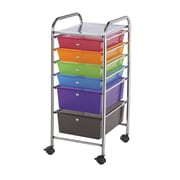 Alvin® Storage Cart 6-Drawer, Standard And Deep, Multi-Coloured (SC6MC)