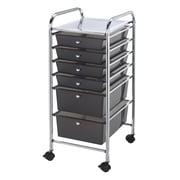 Alvin® Storage Cart 6-Drawer, Standard And Deep, Smoke (SC6SM)