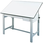 """Alvin® White Top Table, 2 Drawers 37.5"""" X 72"""""""