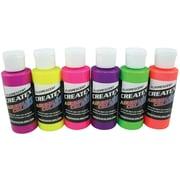 Createx™ Airbrush Fluorescent 6-Colour Set