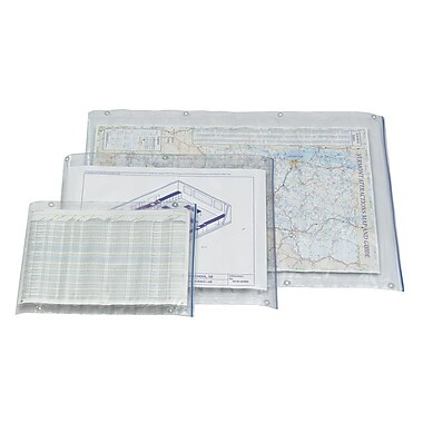 Alvin - Enveloppe translucide robuste en vinyle de 24 x 36 po (ACP36)