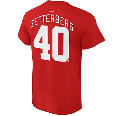 Reebok Detroit Red Wings Henrik Zetterburgh Name & Number Tee, XX Large